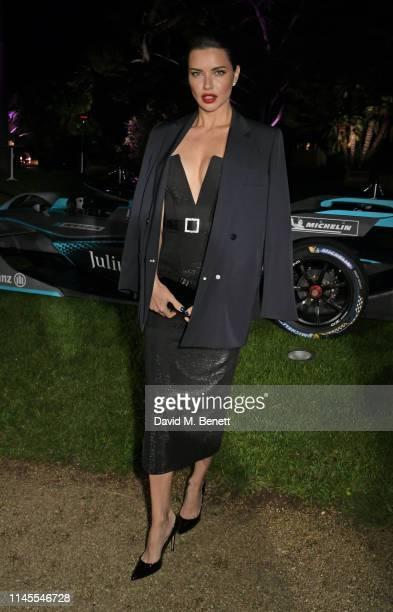 Adriana Lima attends a private dinner hosted by Alejandro Agag to celebrate the World Premiere of Formula E documentary And We Go Green during the...