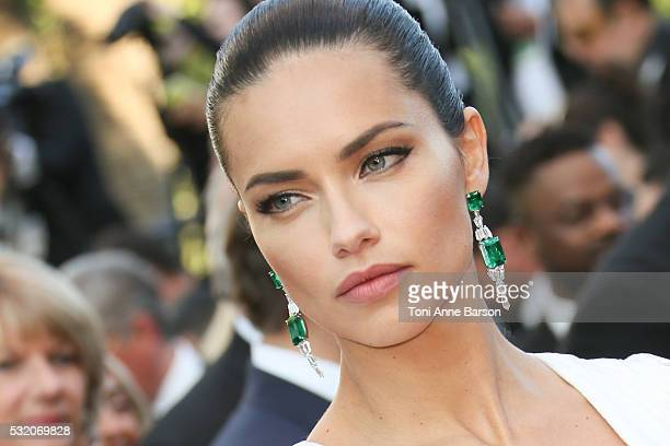 Adriana Lima attends a screening of 'Julieta' at the annual 69th Cannes Film Festival at Palais des Festivals on May 17 2016 in Cannes France