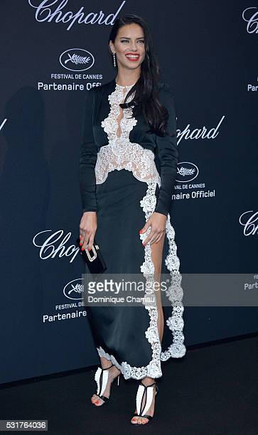 Adriana Lima attends Chopard Wild Party as part of The 69th Annual Cannes Film Festival at Port Canto on May 16 2016 in Cannes France