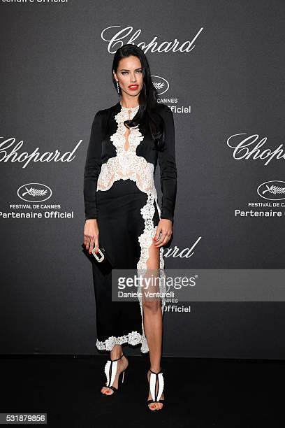 Adriana Lima attends Chopard Wild Party as part of The 69th Annual Cannes Film Festival at Port Canto on May 16 2016 in Cannes