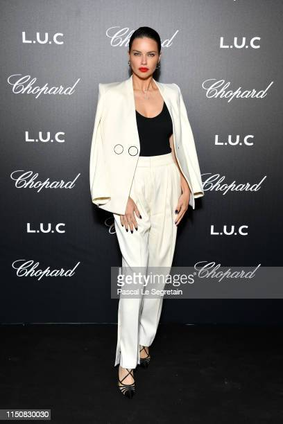 Adriana Lima attends Chopard's The Gentleman's Evening At The Hotel Martinez at Hotel Martinez on May 21, 2019 in Cannes, France.