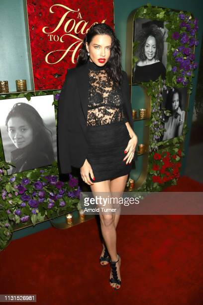 Adriana Lima attends Common's 5th Annual Toast to the Arts at Ysabel on February 22 2019 in West Hollywood California