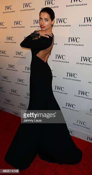 Adriana Lima attends IWC Schaffhausen And DuJour Magazine's Jason Binn Celebrate 'Timeless Portofino' During Art Basel Miami Beach at The W Hotel...