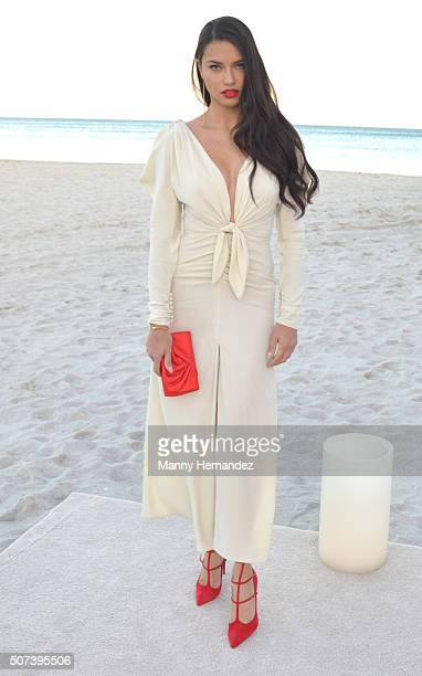 Adriana Lima attends Miami City Ballet 30th Anniversary Gala on January 23 2016 in Miami Beach Florida