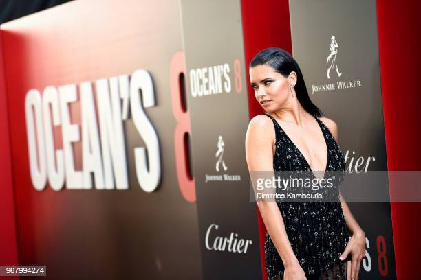 """Adriana Lima attends """"Ocean's 8"""" World Premiere at Alice Tully Hall on June 5, 2018 in New York City."""