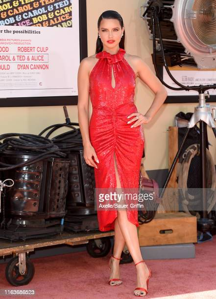 """Adriana Lima attends Sony Pictures' """"Once Upon a Time ... In Hollywood"""" Los Angeles Premiere on July 22, 2019 in Hollywood, California."""