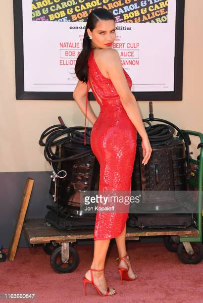 """Adriana Lima attends Sony Pictures' """"Once Upon A Time...In Hollywood"""" Los Angeles Premiere on July 22, 2019 in Hollywood, California."""