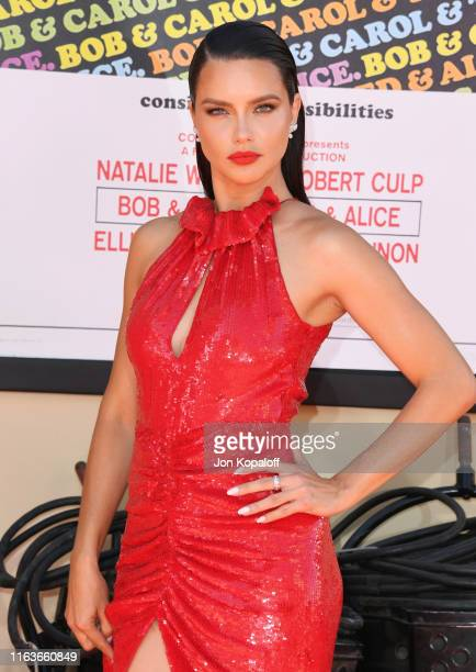 Adriana Lima attends Sony Pictures' Once Upon A TimeIn Hollywood Los Angeles Premiere on July 22 2019 in Hollywood California