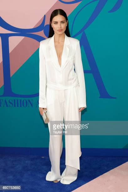 Adriana Lima attends the 2017 CFDA Fashion Awards at Hammerstein Ballroom on June 5 2017 in New York City