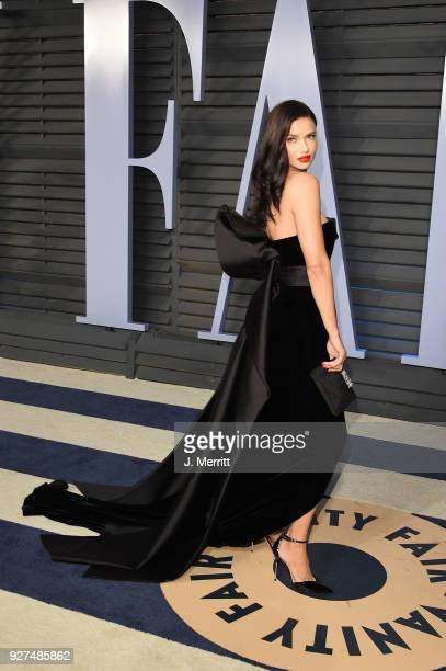 Adriana Lima attends the 2018 Vanity Fair Oscar Party hosted by Radhika Jones at the Wallis Annenberg Center for the Performing Arts on March 4 2018...