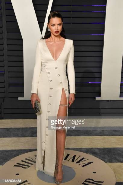 Adriana Lima attends the 2019 Vanity Fair Oscar Party hosted by Radhika Jones at Wallis Annenberg Center for the Performing Arts on February 24, 2019...
