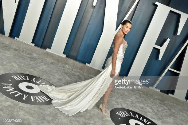 Adriana Lima attends the 2020 Vanity Fair Oscar Party hosted by Radhika Jones at Wallis Annenberg Center for the Performing Arts on February 09 2020...
