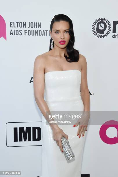 Adriana Lima attends the 27th annual Elton John AIDS Foundation Academy Awards Viewing Party sponsored by IMDb and Neuro Drinks celebrating EJAF and...