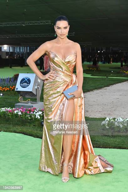Adriana Lima attends the Academy Museum of Motion Pictures: Opening Gala honoring Haile Gerima and Sophia Loren, and Museum Campaign Leadership Bob...