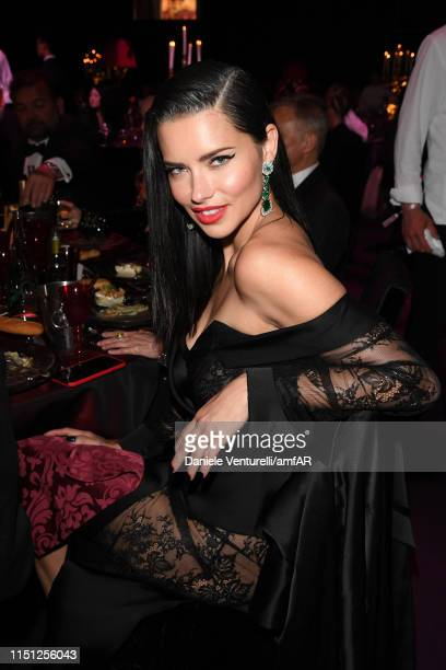 Adriana Lima attends the amfAR Cannes Gala 2019 at Hotel du Cap-Eden-Roc on May 23, 2019 in Cap d'Antibes, France.