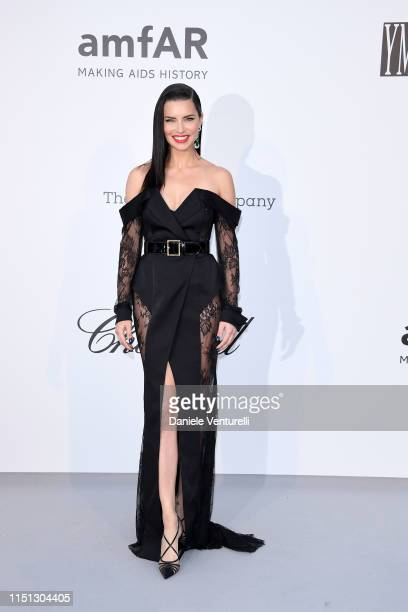 Adriana Lima attends the amfAR Cannes Gala 2019 at Hotel du CapEdenRoc on May 23 2019 in Cap d'Antibes France