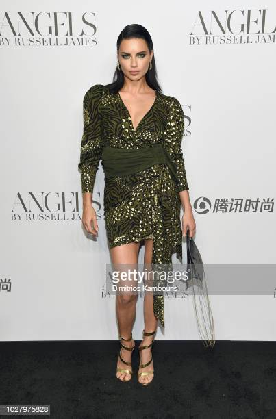 Adriana Lima attends the ANGELS by Russell James book launch and exhibit hosted by Cindy Crawford and Candice Swanepoel at Stephan Weiss Studio on...