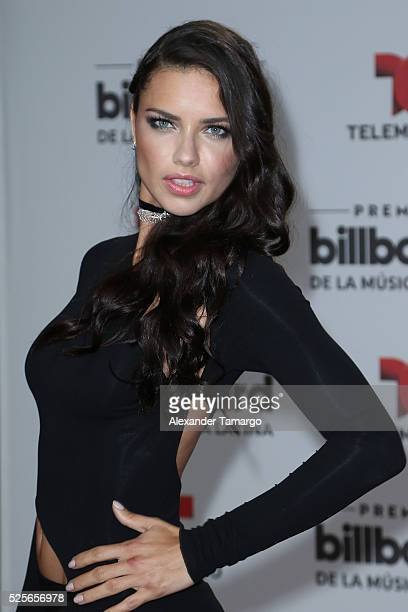 Adriana Lima attends the Billboard Latin Music Awards at Bank United Center on April 28 2016 in Miami Florida