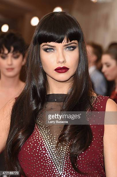 Adriana Lima attends the China Through The Looking Glass Costume Institute Benefit Gala at the Metropolitan Museum of Art on May 4 2015 in New York...
