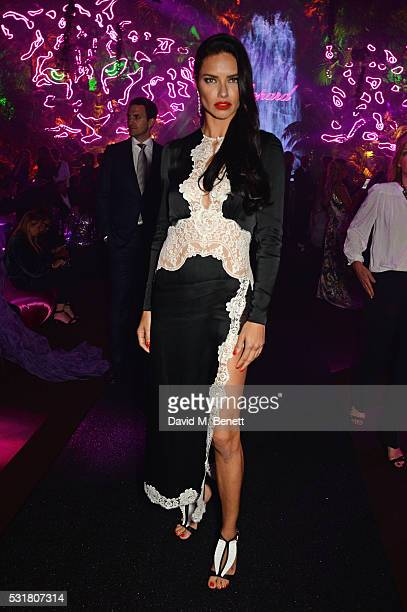 Adriana Lima attends the Chopard Wild Party during the 69th Annual Cannes Film Festival at Port Canto on May 16 2016 in Cannes
