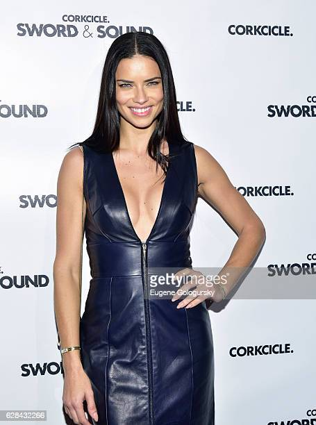Adriana Lima attends the CORKCICLE Presents SWORD SOUND at Shop Studios on December 7 2016 in New York City