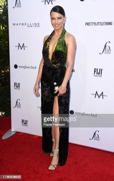 Adriana Lima attends The Daily Front Row's 5th Annual Fashion Los Angeles Awards at Beverly Hills Hotel on March 17, 2019 in Beverly Hills,...