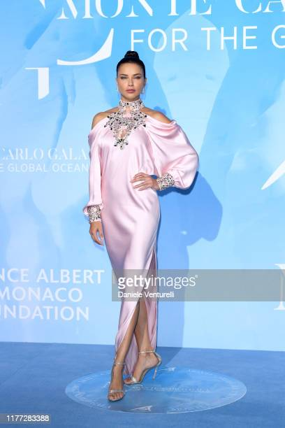 Adriana Lima attends the Gala for the Global Ocean hosted by H.S.H. Prince Albert II of Monaco at Opera of Monte-Carlo on September 26, 2019 in...