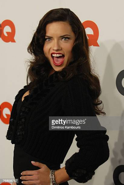 Adriana Lima attends the GQ Magazine 50th Anniversary Party at Cedar Lake on September 18 2007 in New York City