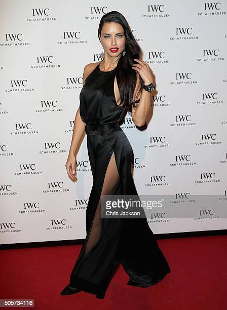 Adriana Lima attends the IWC 'Come Fly with us' Gala Dinner during the launch of the Pilot's Watches Novelties from the Swiss luxury watch...