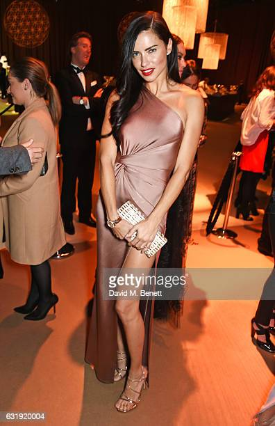 Adriana Lima attends the IWC Schaffhausen 'Decoding the Beauty of Time' Gala Dinner during the launch of the Da Vinci Novelties from the Swiss luxury...
