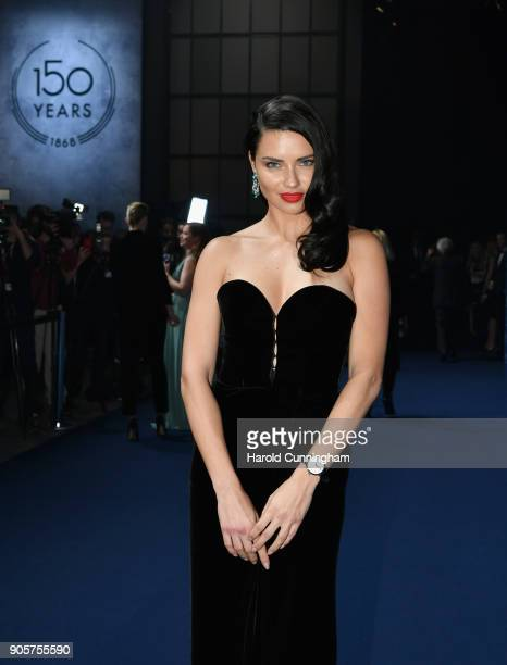 Adriana Lima attends the IWC Schaffhausen Gala celebrating the Maison's 150th anniversary and the launch of its Jubilee Collection at the Salon...