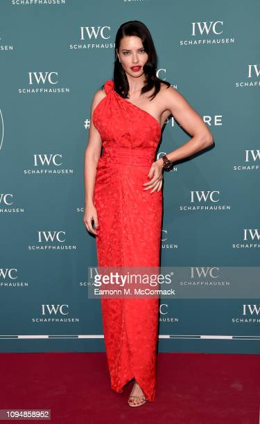 Adriana Lima attends the IWC Schaffhausen Gala celebrating the launch of the new Pilot's Watches at the Salon International de la Haute Horlogerie on...