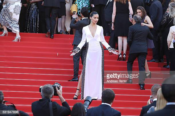 Adriana Lima attends the Julieta premiere during the 69th annual Cannes Film Festival at the Palais des Festivals on May 17 2016 in Cannes France