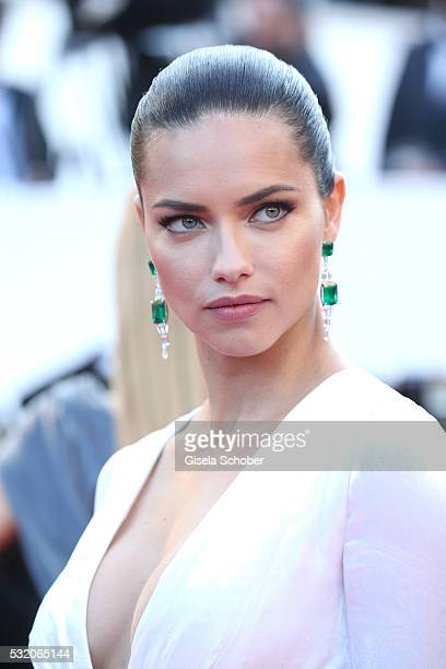 Adriana Lima attends the 'Julieta' premiere during the 69th annual Cannes Film Festival at the Palais des Festivals on May 17 2016 in Cannes France