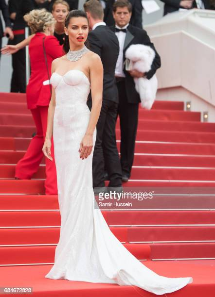 Adriana Lima attends the Loveless screening during the 70th annual Cannes Film Festival at Palais des Festivals on May 18 2017 in Cannes France