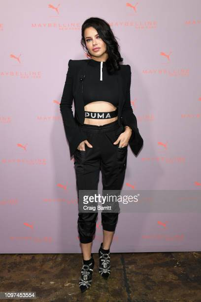 Adriana Lima attends the Maybelline New York PUMA launch event at The Caldwell Factory on February 10, 2019 in New York City.