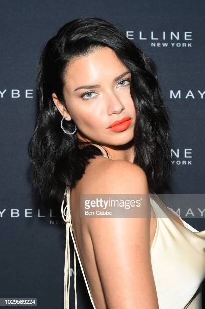 Adriana Lima attends the Maybelline x New York Fashion Week XIX Party at Mr Purple at the Hotel Indigo LES on September 8 2018 in New York City