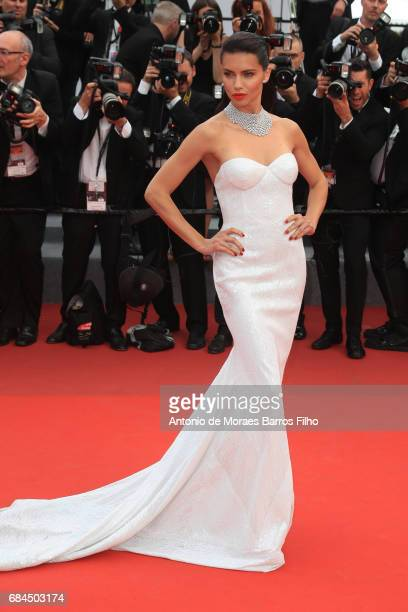 "Adriana Lima attends the ""Nelyobov "" screening during the 70th annual Cannes Film Festival at Palais des Festivals on May 18, 2017 in Cannes, France."