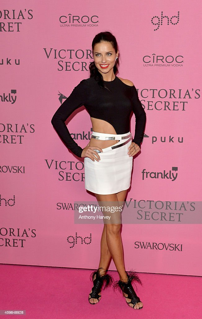 Adriana Lima attends the pink carpet of the 2014 Victoria's Secret Fashion Show on December 2, 2014 in London, England.