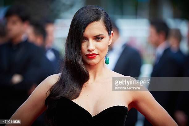 Adriana Lima attends the Premiere of 'Sicario' during the 68th annual Cannes Film Festival on May 19 2015 in Cannes France