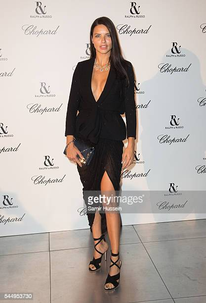 Adriana Lima attends the Ralph Russo And Chopard Host Dinner as part of Paris Fashion Week on July 4 2016 in Paris France
