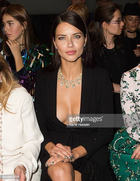 Adriana Lima attends the Ralph Russo Haute Couture Fall/Winter 20162017 show as part of Paris Fashion Week on July 4 2016 in Paris France