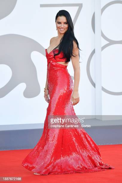 """Adriana Lima attends the red carpet of the movie """"Madres Paralelas"""" during the 78th Venice International Film Festival on September 01, 2021 in..."""
