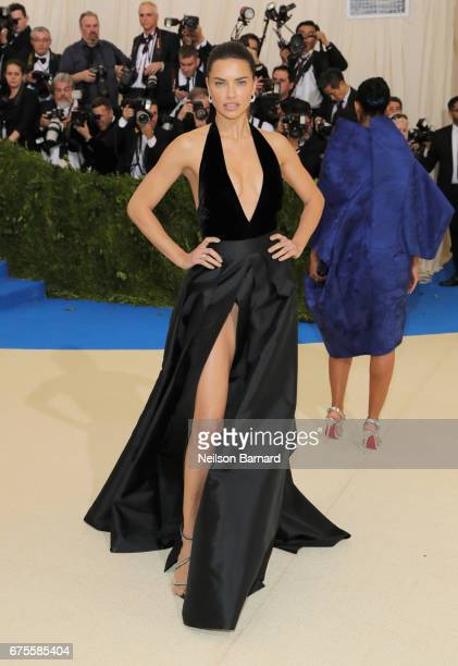 Adriana Lima attends the 'Rei Kawakubo/Comme des Garcons Art Of The InBetween' Costume Institute Gala at Metropolitan Museum of Art on May 1 2017 in...