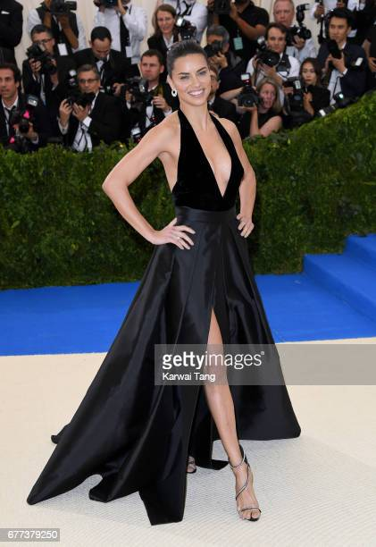 Adriana Lima attends the Rei Kawakubo/Comme des Garcons Art Of The InBetween Costume Institute Gala at the Metropolitan Museum of Art on May 1 2017...