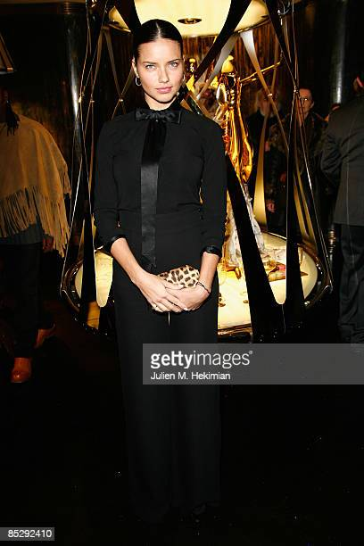 Adriana Lima attends the Roberto Cavalli opening boutique party during Paris Fashion Week readytowear Autumn / Winter 2009 on March 7 2009 in Paris...