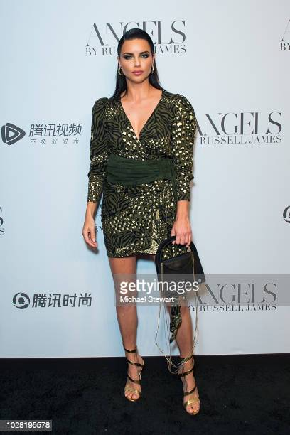 Adriana Lima attends the Russell James 'Angels' book launch & exhibit at Stephan Weiss Studio on September 6, 2018 in New York City.
