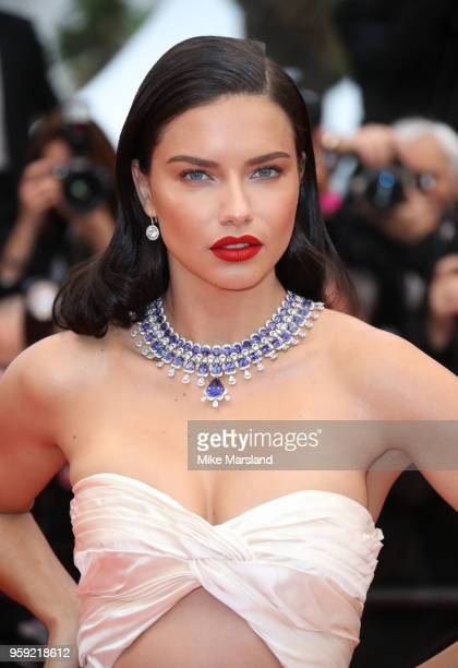 Adriana Lima attends the screening of 'Burning' during the 71st annual Cannes Film Festival at Palais des Festivals on May 16 2018 in Cannes France