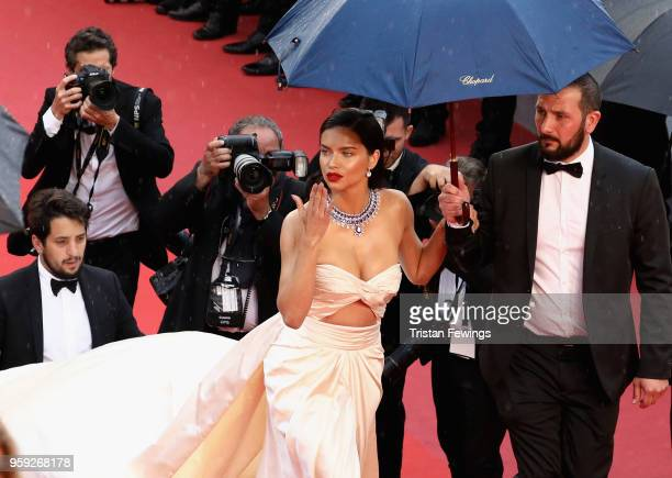 Adriana Lima attends the screening of Burning during the 71st annual Cannes Film Festival at Palais des Festivals on May 16 2018 in Cannes France