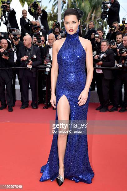 Adriana Lima attends the screening of Oh Mercy during the 72nd annual Cannes Film Festival on May 22 2019 in Cannes France